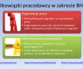 POdstawowe obowiązki z zakresu BHP